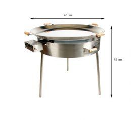 GrillSymbol Paella Frying Pan Set PRO-960 inox