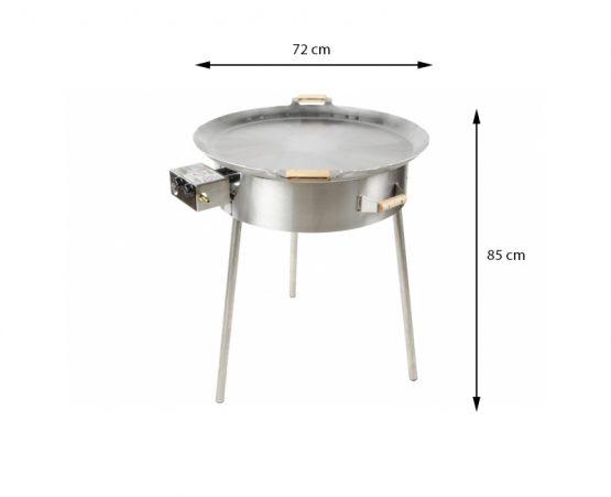 GrillSymbol Paella Stahlpfanne Set PRO-720