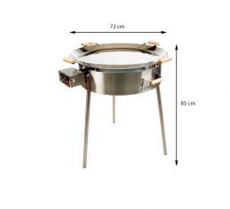 GrillSymbol Paella Riesenpfanne Set PRO 720 inox