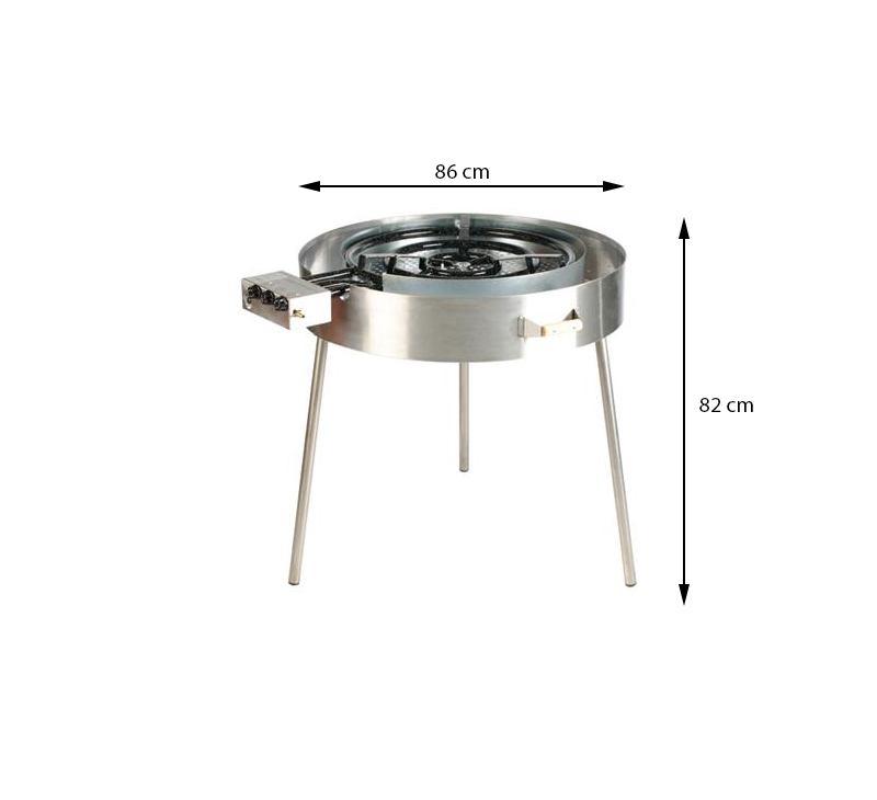 GrillSymbol Indoor and Outdoor Paella Gas Cooker TW-960i