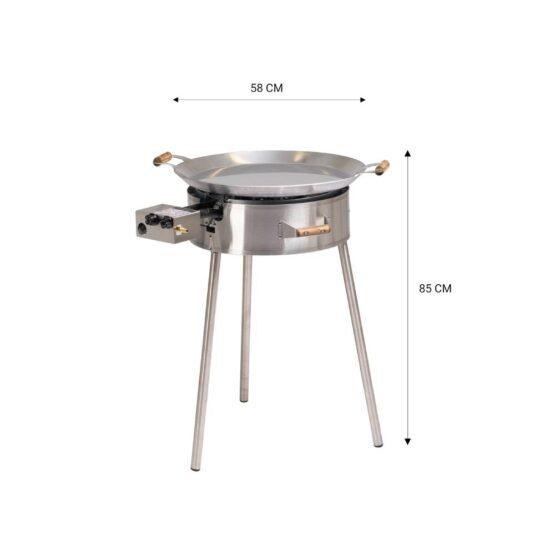 GrillSymbol Paella Edelpfanne Set PRO-580i