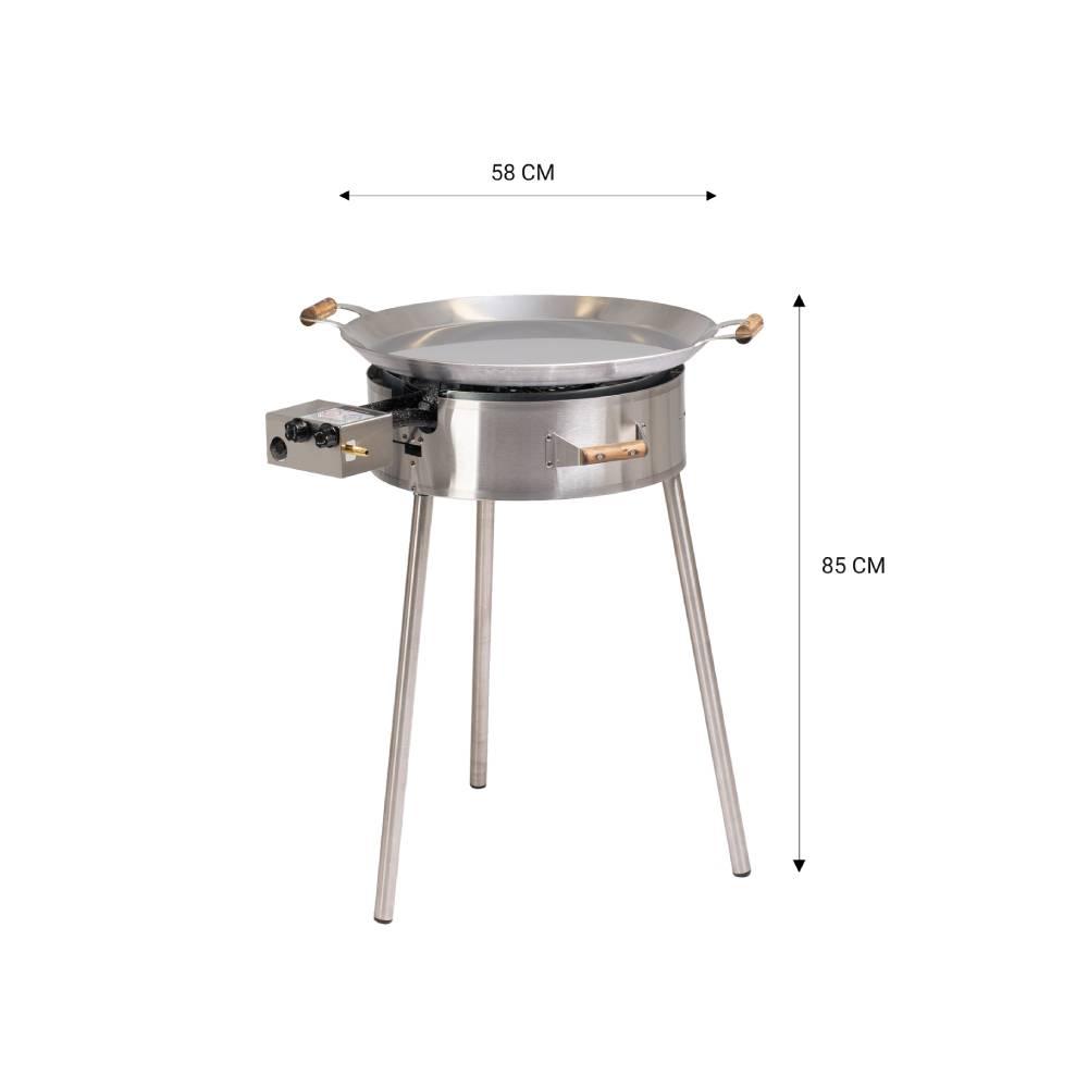GrillSymbol Kit de Paella PRO-580 INOX