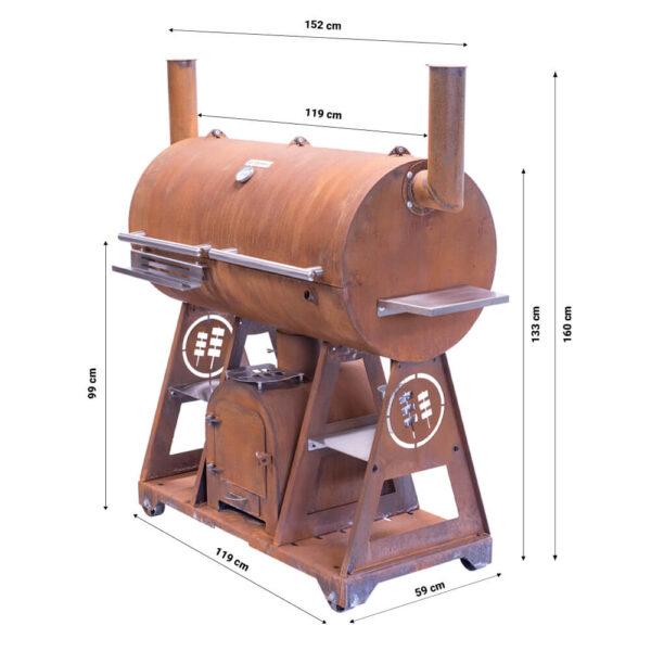 GrillSymbol Horno BBQ - Smoky Beast XL