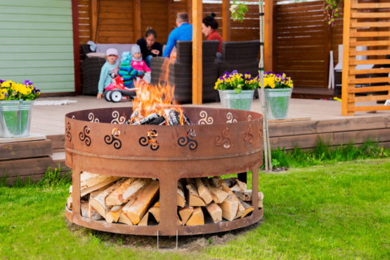 GrillSymbol Antigo Outdoor Wood Burning Fire Pit