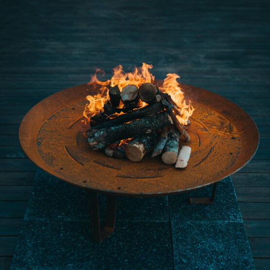 GrillSymbol Elegante XL Outdoor Wood Burning Fire Pit