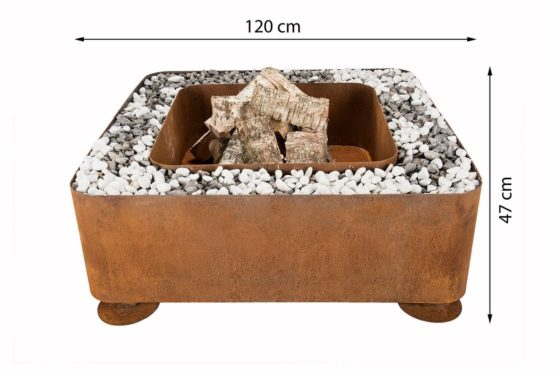 GrillSymbol Fogo Outdoor Wood Burning Fireplace