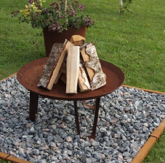 GrillSymbol Seppo Outdoor Wood Burning Fire Pit
