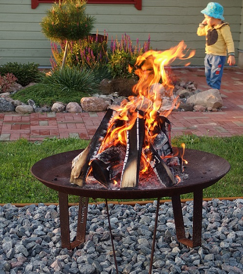 GrillSymbol Cor-Ten Steel Fire Pit Elegante