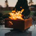 GrillSymbol Feuerstelle aus Cortenstahl Piazza