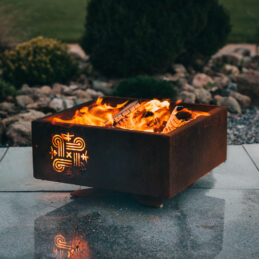 GrillSymbol Piazza Outdoor Wood Burning Fire Pit