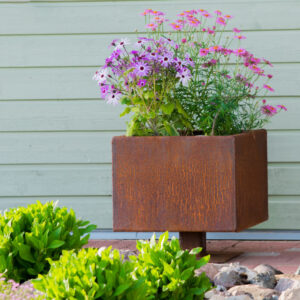 GrillSymbol Cor-Ten Steel Flower Pot Ulla M