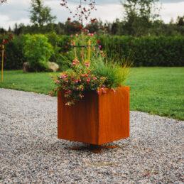 Corten Steel Flower Pot Ulla L