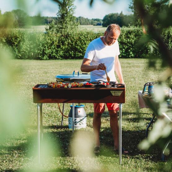 GrillSymbol Corten Holzkohlegrill Chef-NXL