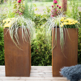Corten Steel Planter Manhattan