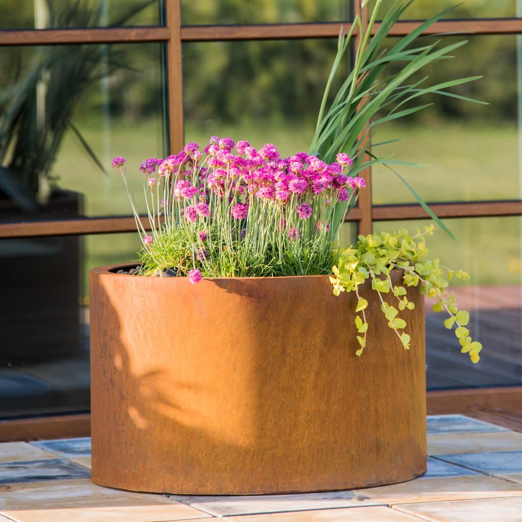 GrillSymbol Cor-Ten Steel Flower Pot Mia