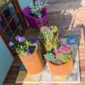 GrillSymbol Cor-Ten Steel Flower Pot Set Sisters