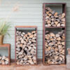Cor-Ten Firewood Rack WoodStock