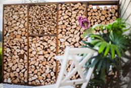 Corten Holzlager WoodStock Wall