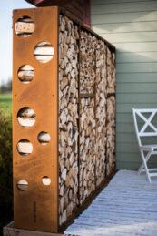 Corten Firewood Module WoodStock Wall