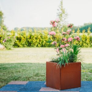 GrillSymbol Cor-Ten Steel Flower Pot Fiora S