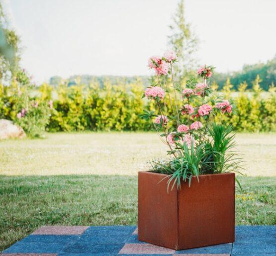 Corten Steel Flower Pot Clara M