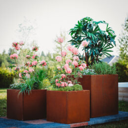 Corten Steel Planter Set Clara