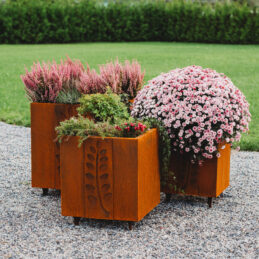 Corten Steel Planter Set Fat Ballerina