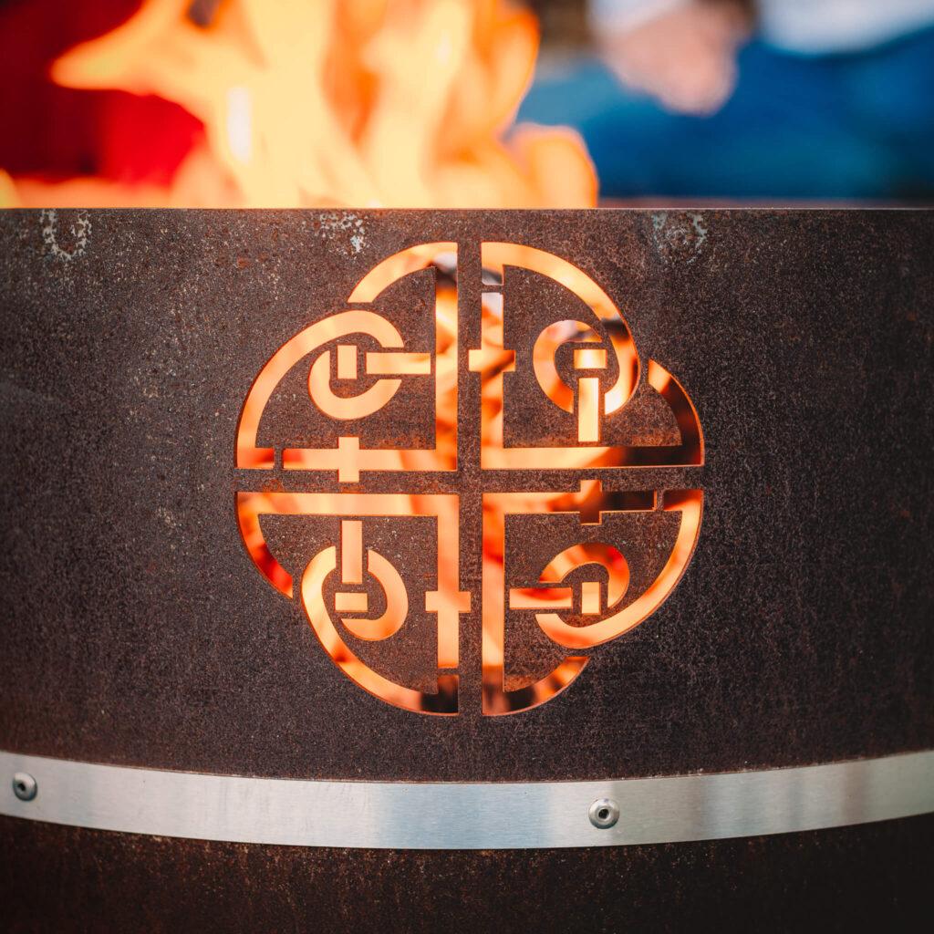 GrillSymbol Cor-Ten Steel Fire Pit Lucas Mini
