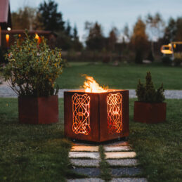GrillSymbol Laterna Outdoor Wood Burning Fire Pit