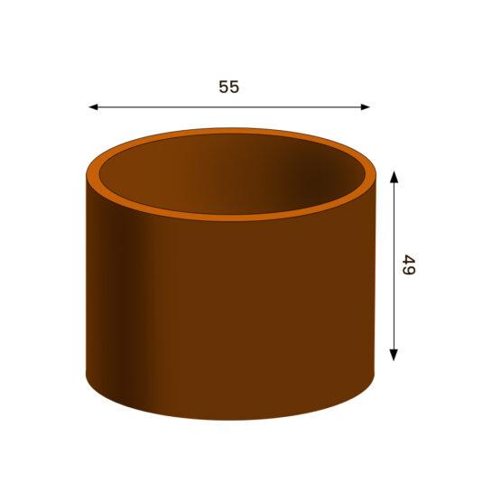 Pflanzkübeln Cortenstahl Satz 3er Fiora (Copy)
