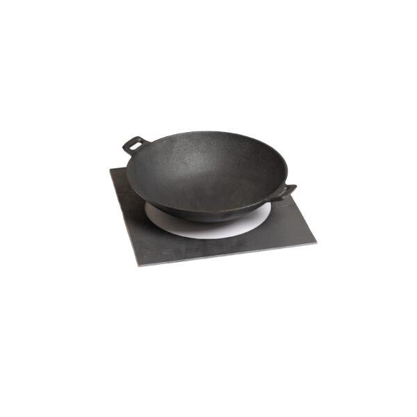 GrillSymbol Wok-Pfanne Ø 30 cm mit Adapter